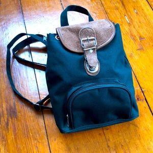 Vintage Mini Forest Green Backpack